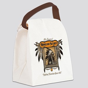 Homeland Security - dark backgrou Canvas Lunch Bag
