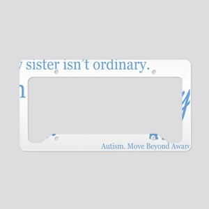 extraordinary-sister-blue License Plate Holder