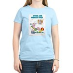 DOGS ARE HUMAN TOO! (b)Women's Pink T-Shirt