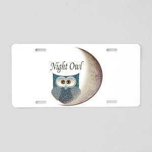 Night Owl Aluminum License Plate