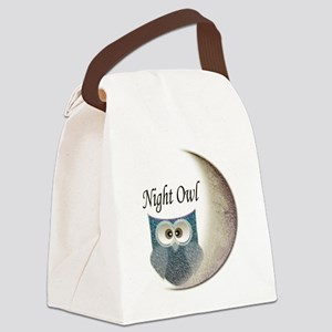 Night Owl Canvas Lunch Bag