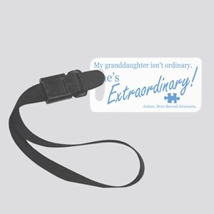 extraordinary-granddaughter-blue Small Luggage Tag
