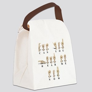 CanYouHearMeAmeslan062511 Canvas Lunch Bag