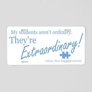 extraordinary-students-blue Aluminum License Plate