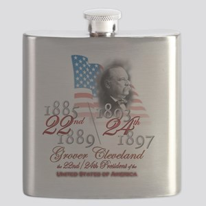 USA Presidents - 22nd 24th Cleveland Flask