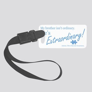 extraordinary-brother-blue-lower Small Luggage Tag
