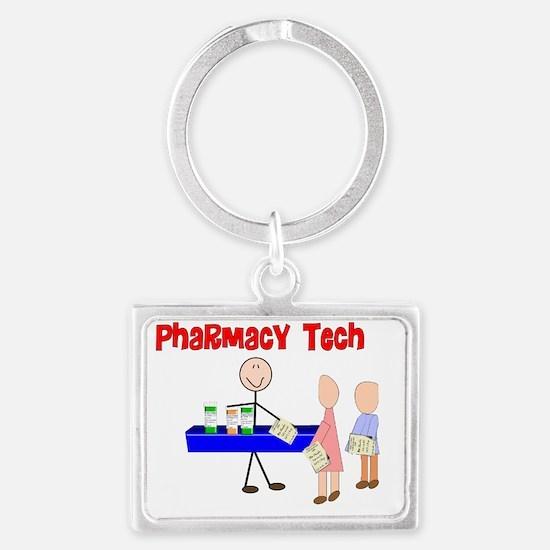 pharmacy Tech Stick Landscape Keychain