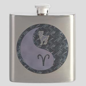Blue Yin Yang Aries  Flask
