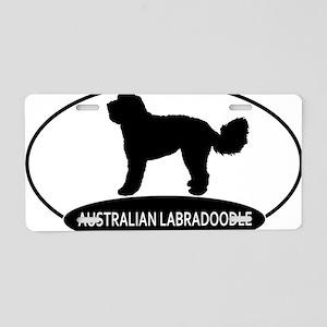 labradoodle2 Aluminum License Plate