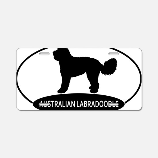 labradoodle2 Aluminum License Plate