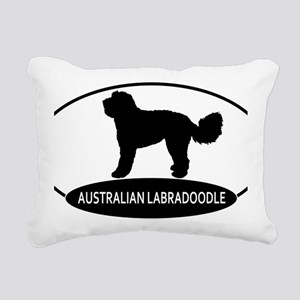 labradoodle2 Rectangular Canvas Pillow