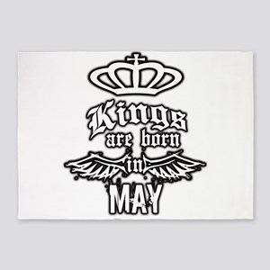 king are born in may 5'x7'Area Rug