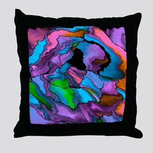 crazy effects 02 blue Throw Pillow
