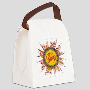 SHOTOKAN_TIGER_5x3oval_sticker Canvas Lunch Bag