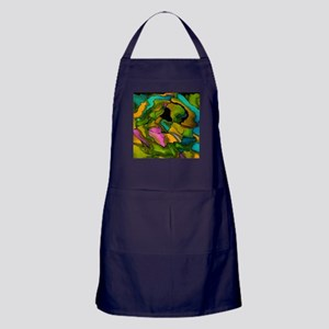 crazy effects 02 colorful Apron (dark)