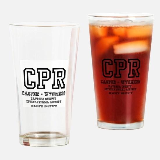 AIRPORT CODES - CPR - CASPER, WYOMI Drinking Glass
