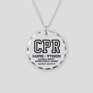 AIRPORT CODES - CPR - CASPER Necklace Circle Charm