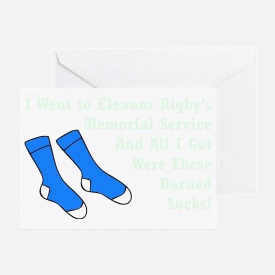 Darned Socks mint Greeting Card