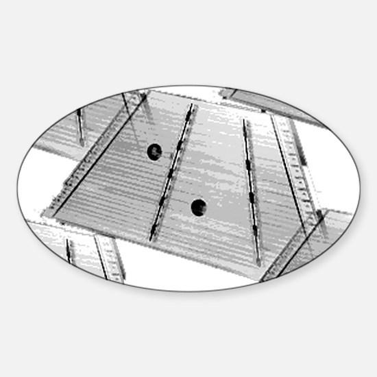 Hammered Dulcimer Sticker (Oval)