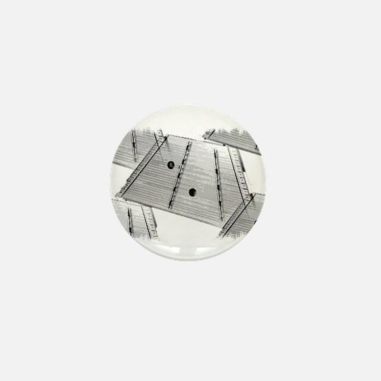 Hammered Dulcimer Mini Button