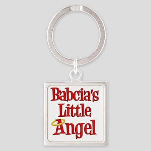 Babcias Little Angel Square Keychain