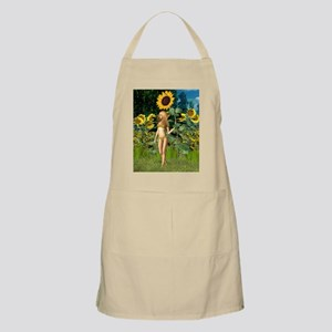 Sunflower Fairy with Summer Background Apron