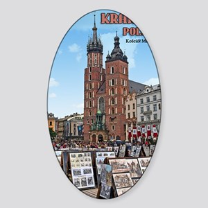 Krakow - Basillica Sticker (Oval)