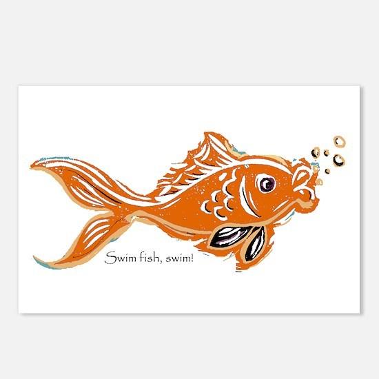 Little Golden Goldfish Postcards (Package of 8)