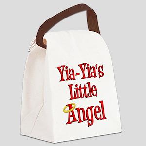 Yia Yias Little Angel Canvas Lunch Bag