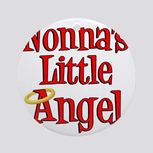 Nonnas Little Angel Round Ornament