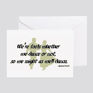 Folk Dance Fools Greeting Cards (Pk of 10)