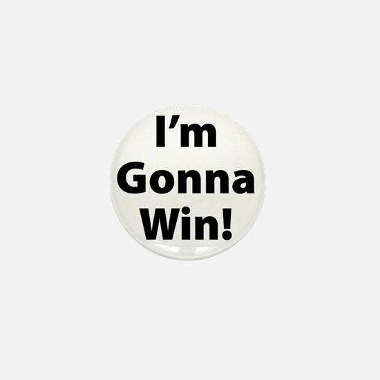 GonnaWin-Black Mini Button