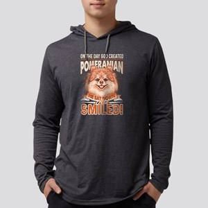 Pomeranian Shirt - God Created Long Sleeve T-Shirt