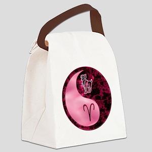 Pink Yin Yang Aries  Canvas Lunch Bag