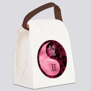 Pink Yin Yang Gemini  copy Canvas Lunch Bag