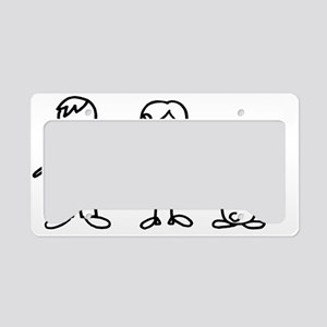 bunfamilysticker1lop License Plate Holder