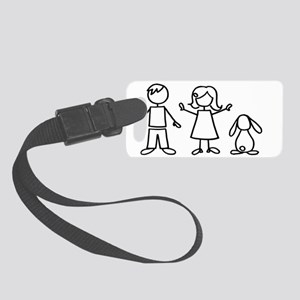 bunfamilysticker1lop Small Luggage Tag