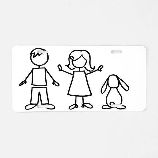 bunfamilysticker1lop Aluminum License Plate