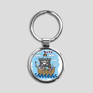 pirate1 Round Keychain