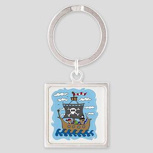pirate1 Square Keychain