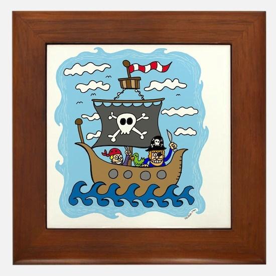 pirate1 Framed Tile