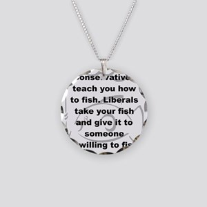 CONSERVATIVES TEACH YOU HOW  Necklace Circle Charm