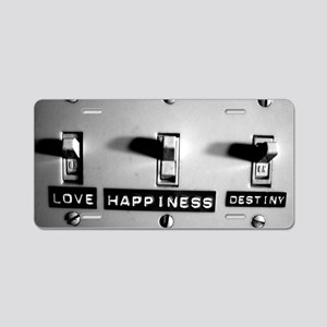 Life Switch Aluminum License Plate