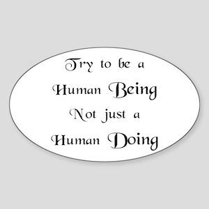 Human Doing Sticker (Oval)