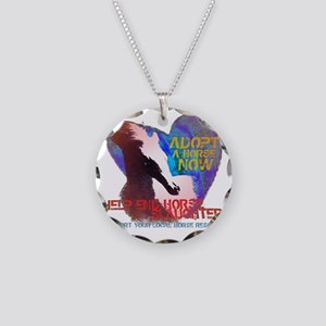 Adopt A Horse Necklace Circle Charm