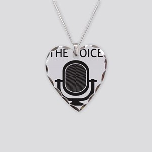 The-voice-microphone Necklace Heart Charm