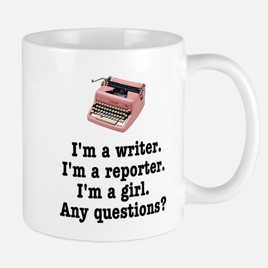 Pink Typewriter Reporter's Mug