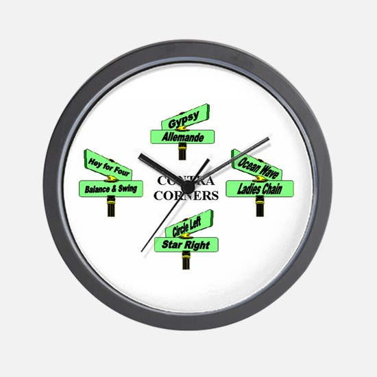 Contra Corners Wall Clock