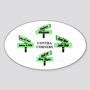 Contra Corners Sticker (Oval)