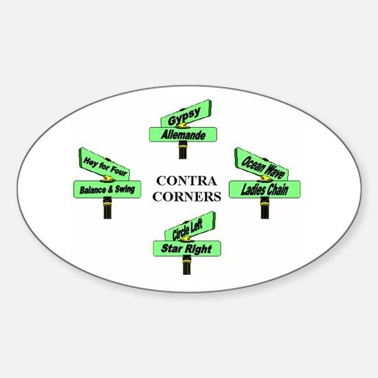 Contra Corners Sticker (Oval)